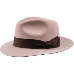 Fedora - kapelusz różowy damski filcowy