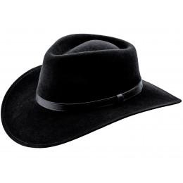 kapelusz czarny - elegancki filcowy męski