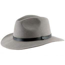 szara fedora - kapelusz męski filcowy