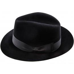 kapelusz odporny na warunki atmosferyczne - męska fedora czarna