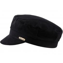 Letnia czapka męska czarna z daszkiem bawełniana - polska czapka