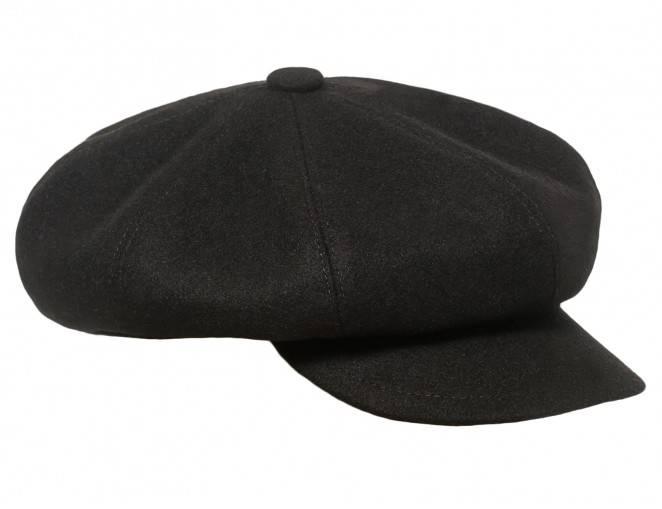 Męska czapka z daszkiem wełniana