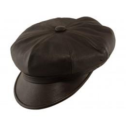 Brązowa czapka z daszkiem motocyklowa męska