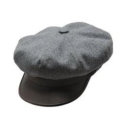 Meska czapka z daszkiem szara sterkowski