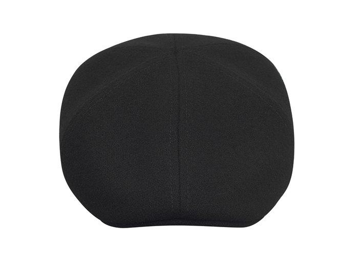 Czarne modne nakrycie męskie na głowę - na zimę