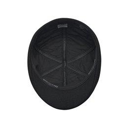 Czarna męska czapka z daszkiem na zimę i na jesień - sklep warszawa