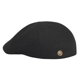 Czarny kaszkiet zimowy wełniany - modna, ciepła czapka