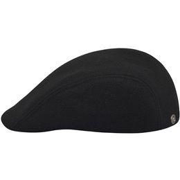 Czarne modne męskie nakrycie głowy - czapka polska
