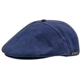Kaszkiet niebieski męski lniany letni - sklep z czapkami sterkowski