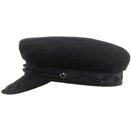Czapka czarna męska z daszkiem bawełniana