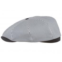 Biała czapka męska bawełniana
