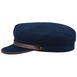 Damska czapka z daszkiem granatowa na zimę