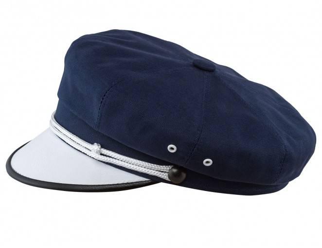 Granatowa czapka z białym daszkiem z bawełny