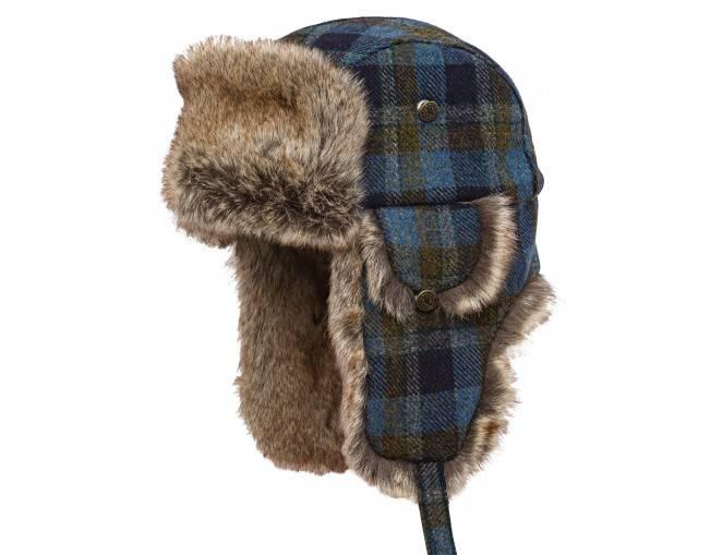 Ciepła czapka traperka uszyta z wełny szetlandzkiej