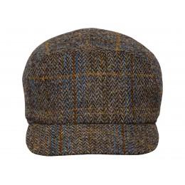 Czapka męska na jesień z daszkiem wełniana z Harris Tweedu - sklep z czapkami warszawa sterkowski