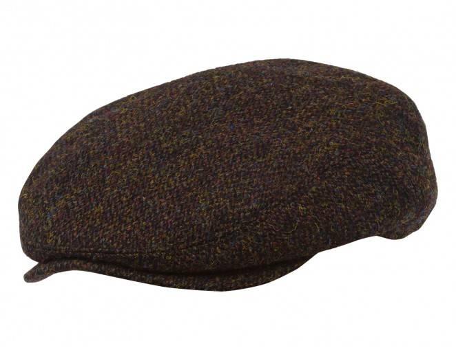 Klasyczna męska czapka angielka z Harris Tweedu na zimę i jesień
