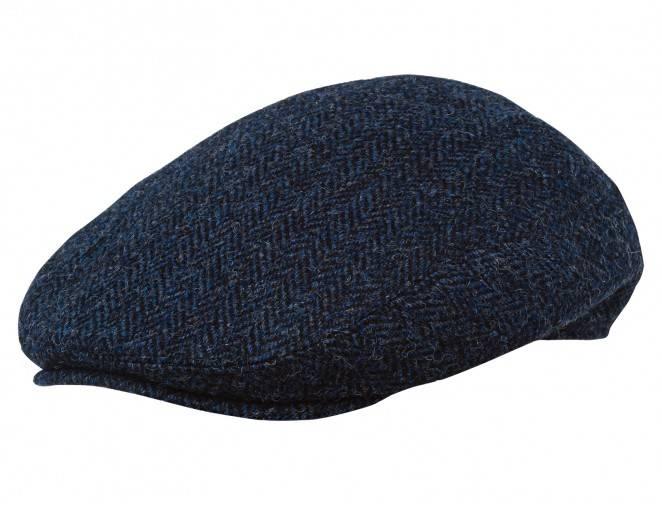 Niebieska angielka czapka na pory zimowe i jesienne