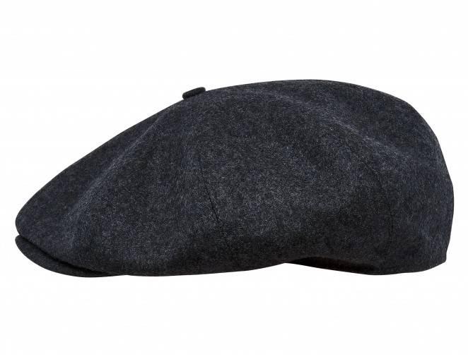 czapka męska szara z daszkiem