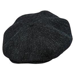 Modne czapki męskie - wełniane, Harris Tweed