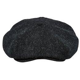 Modna czapka męska antracytowa