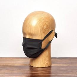 Maseczki higieniczne trójwarstwowe czarne wielokrotnego użytku