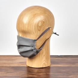 Maseczka higieniczna szara trójwarstwowa wielokrotnego użytku