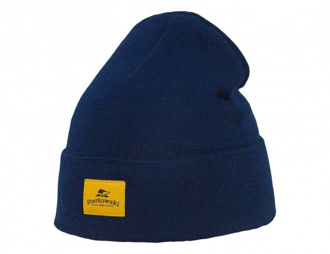 Elegancka męska czapka kaszkiet na zimę Harris Tweed