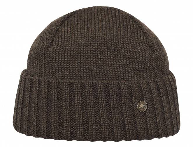 brązowa damska czapka kolarka z daszkiem z wełny