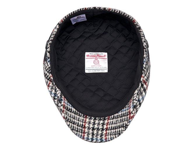 Czarna czapka męska kaszkiet na lato lniana