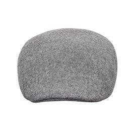 Szara czapka angielka z daszkiem zimowa z nasznikiem
