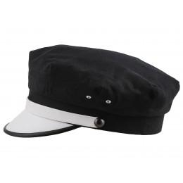 Czapka czarna z daszkiem retro rockabilly