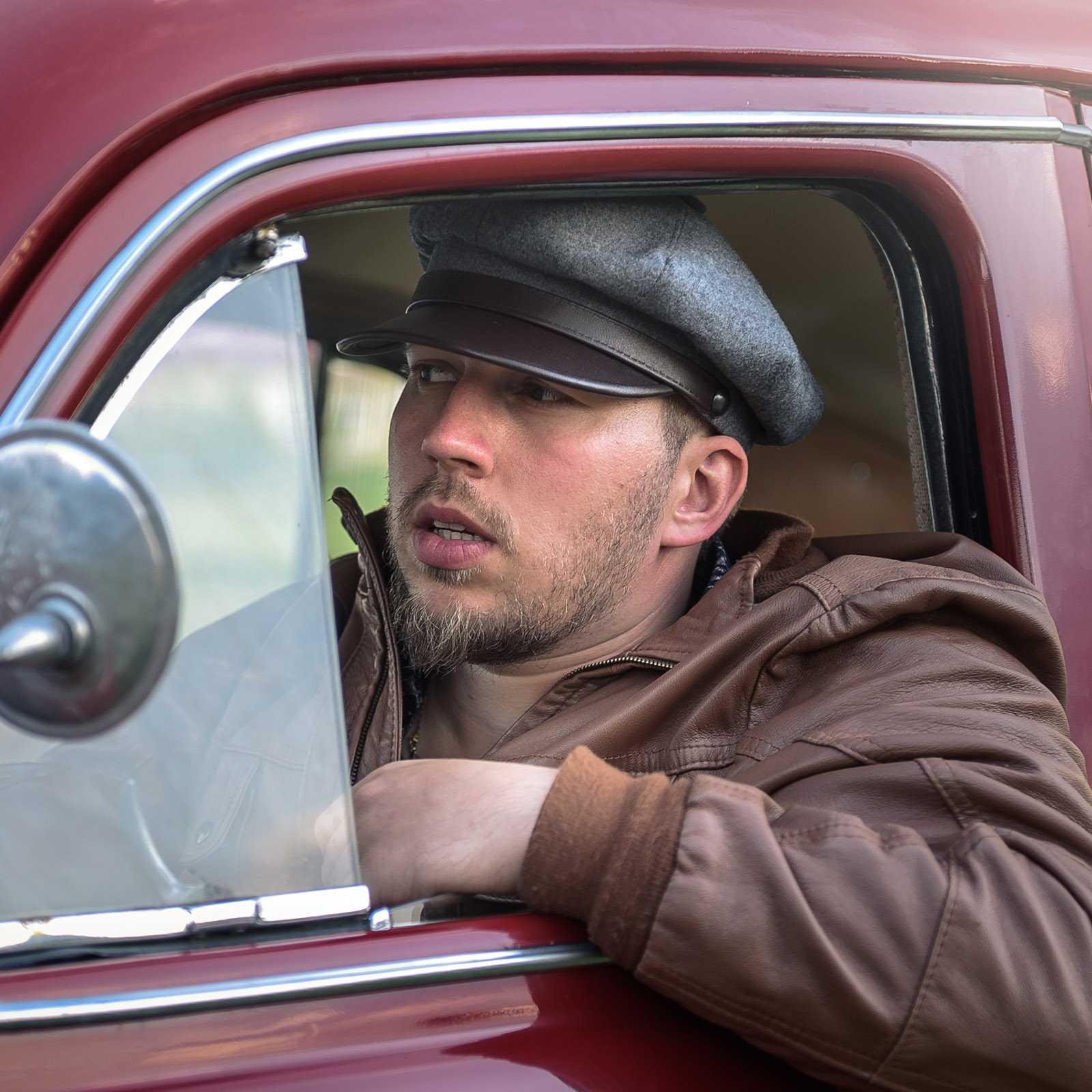 czapka męska brando motocyklowa maciejówka wełniana