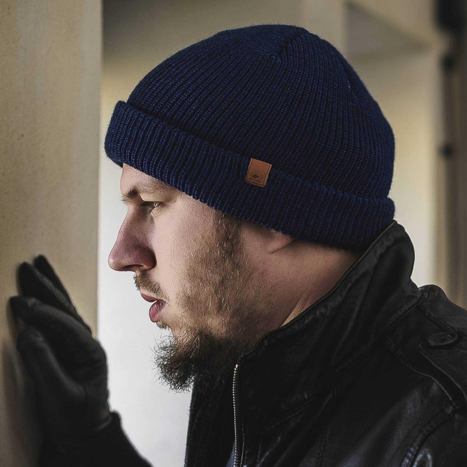 Klasyczna czapka na zimę beanie z wełny merynosa