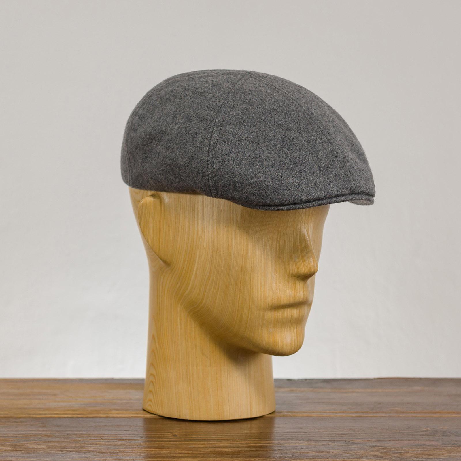 Zimowa klasyczna czapka kaszkiet jesienny z wełny