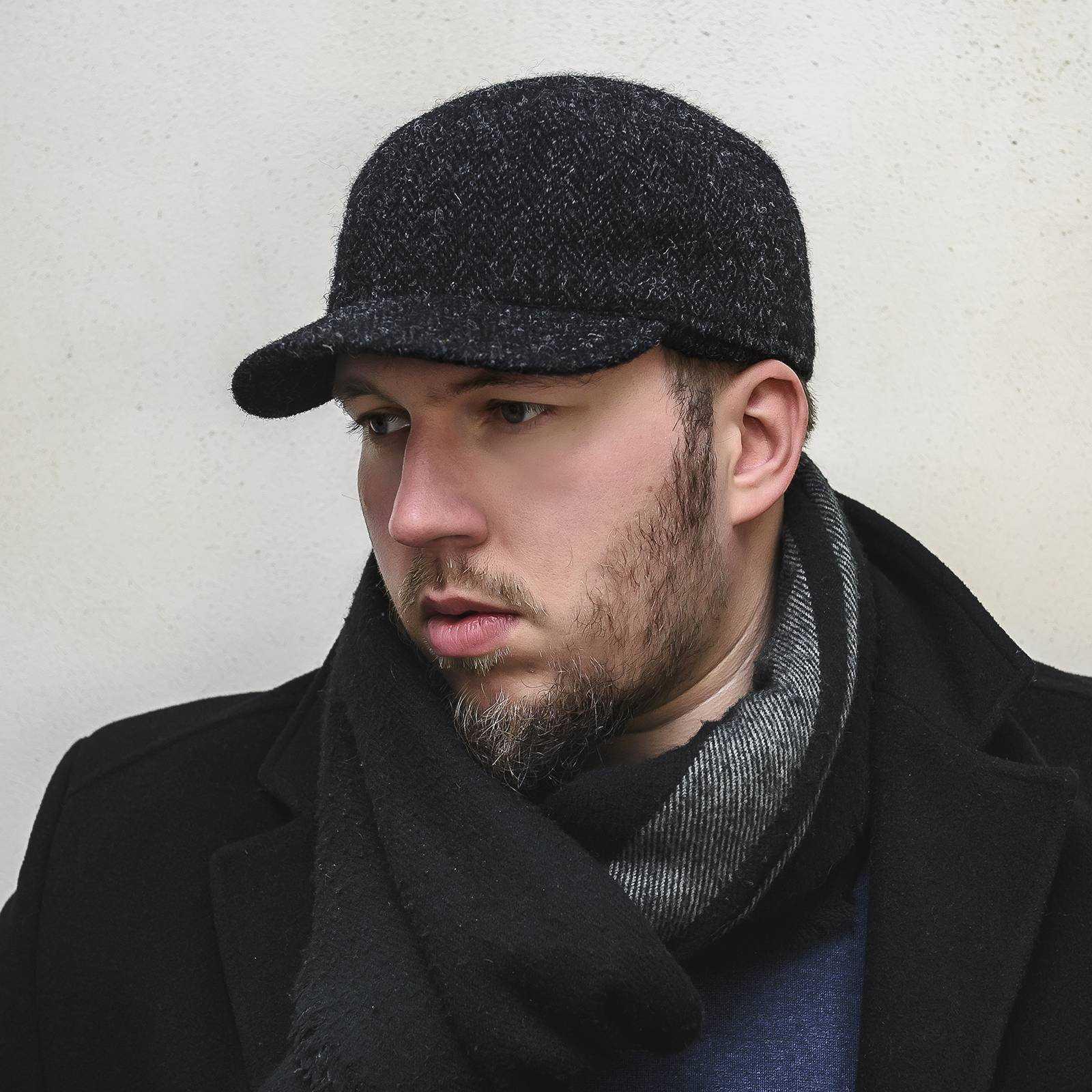 Hudson - duńska czapka z daszkiem wykonana z wełny Harris Tweedu