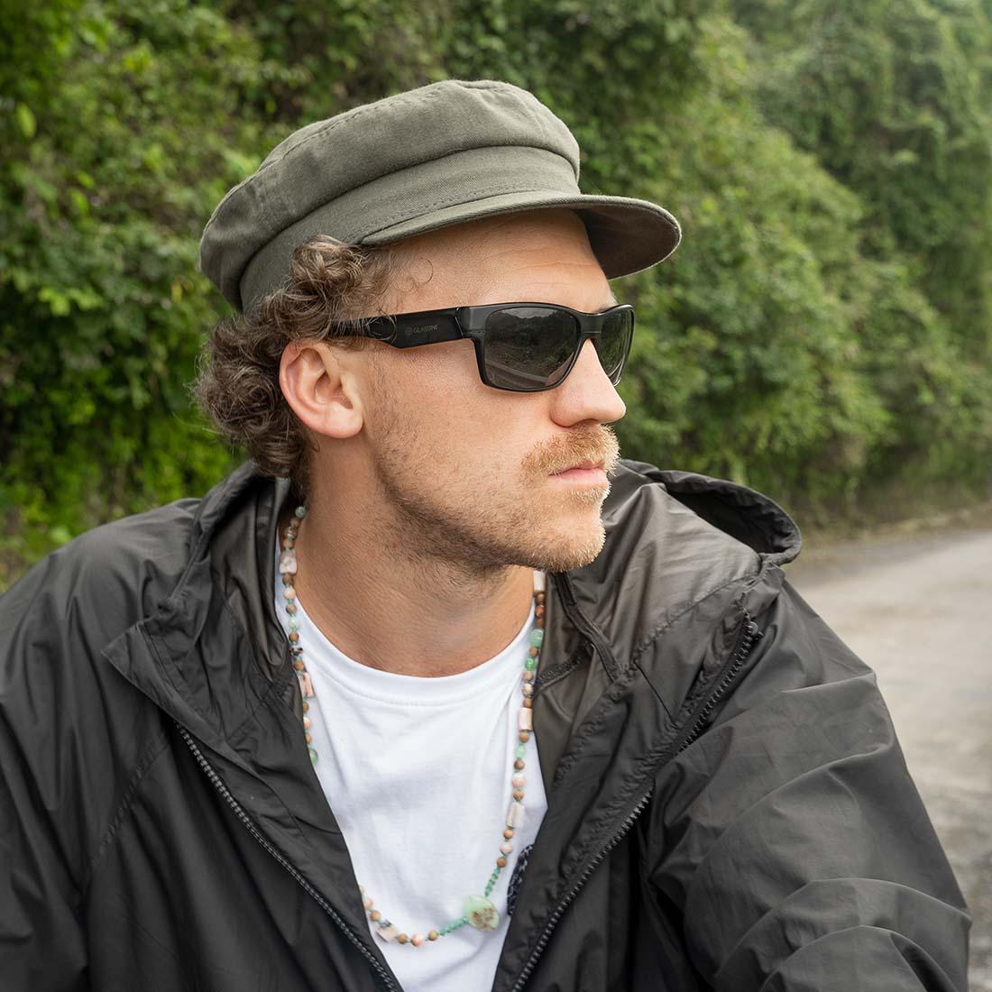 Zielona czapka męska z daszkiem - sklep online