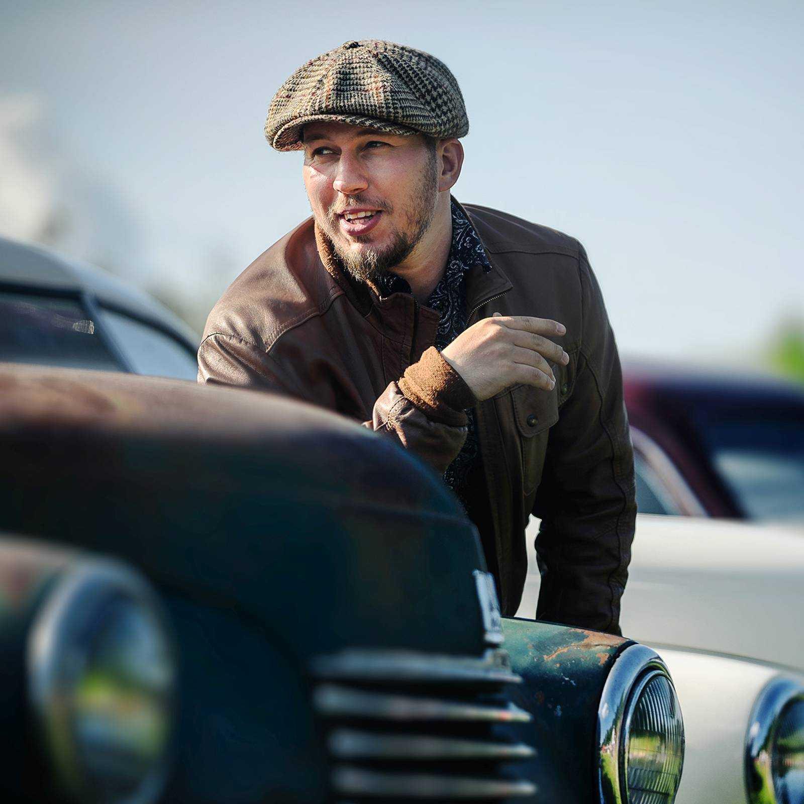 Kaszkiet Peaky Blinders,  czapka z daszkiem z Harris Tweedu
