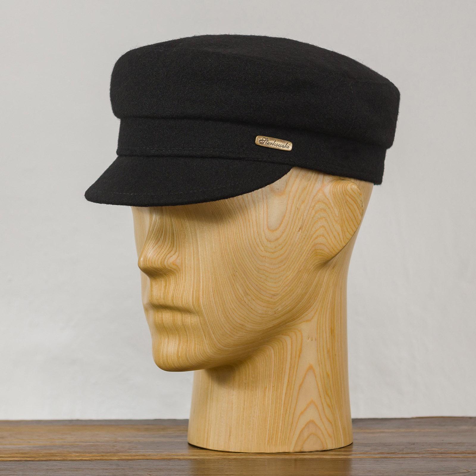 Lekka wełniana czapka z daszkiem
