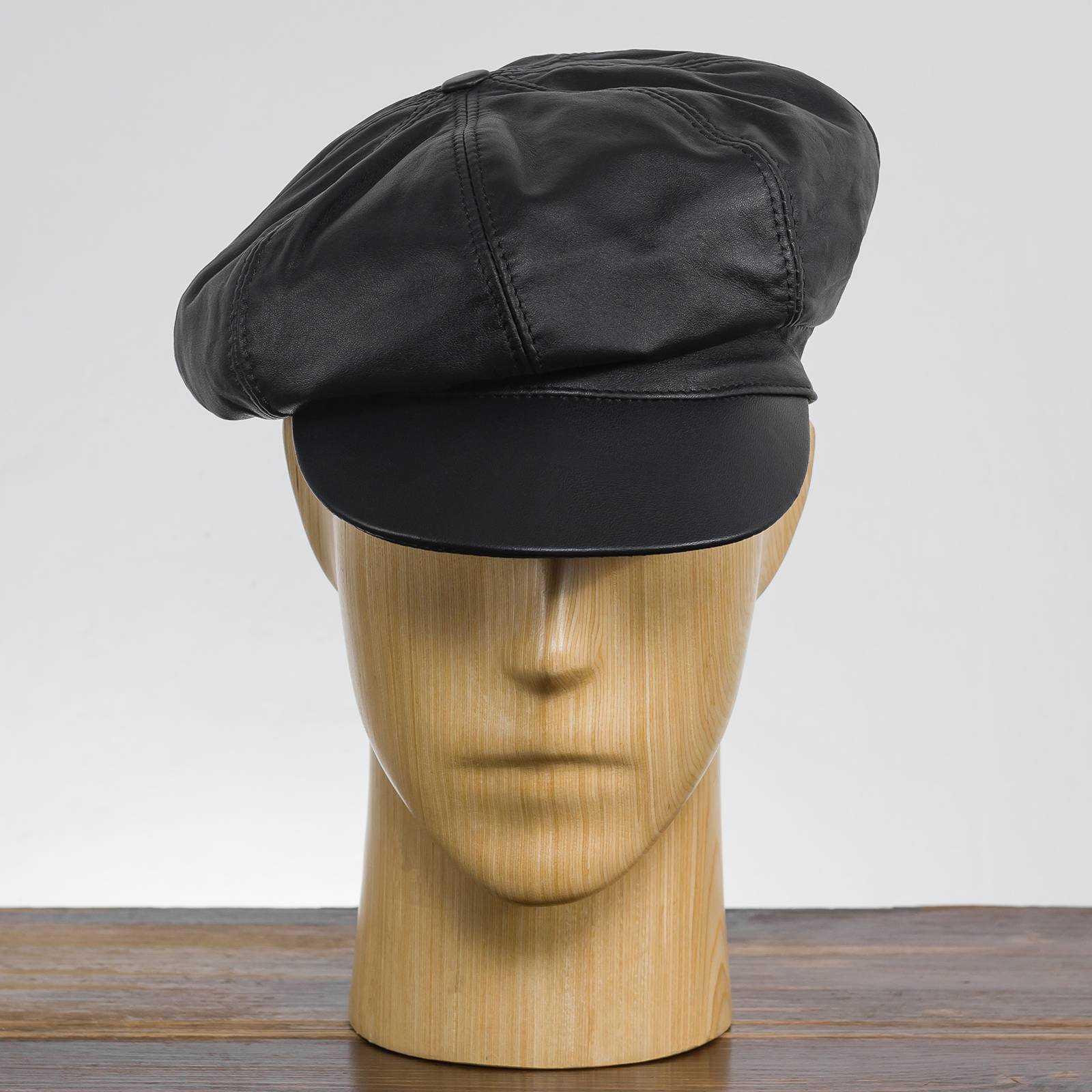 Cyklistówka czapka Gawroszka skórzana