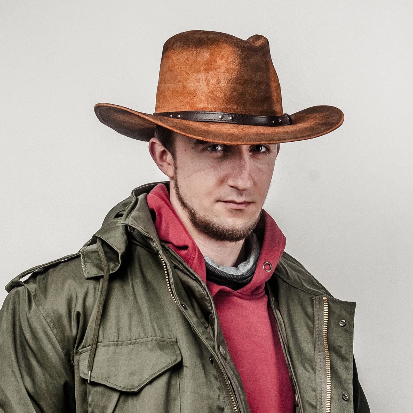 Skórzany kapelusz Kowbojski - polska pracownia kapeluszy