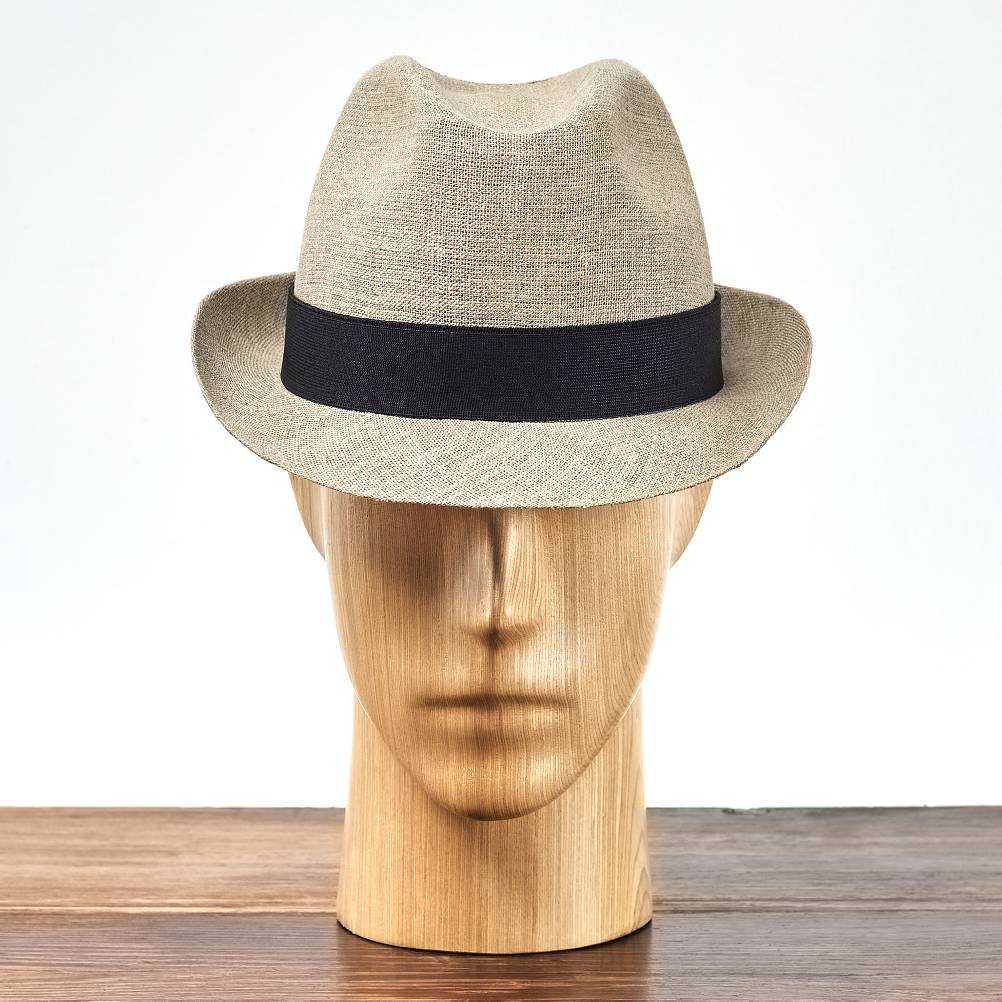 Lekki i przewiewny lniany kapelusz trilby, idealny na lato, na plażę