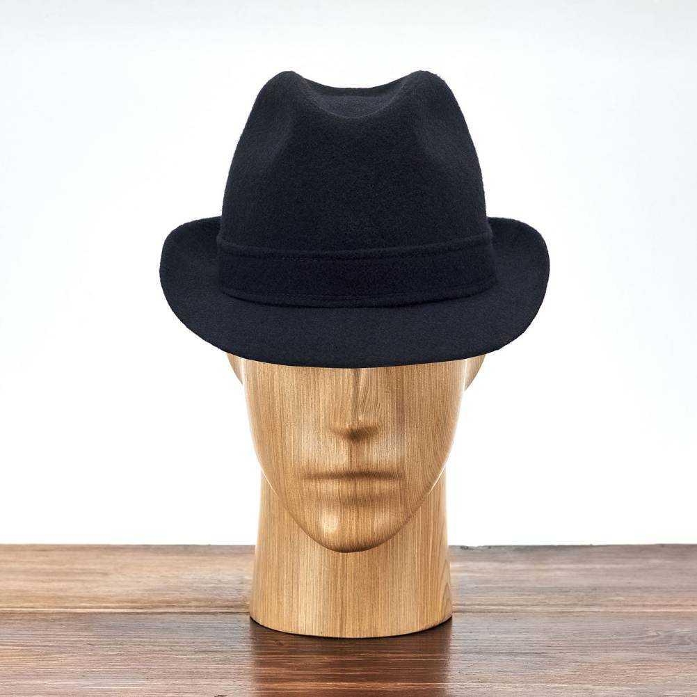 Klasyczny kapelusz męski Trilby, modne nakrycie głowy męskie